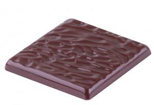 The intense taste of a non-sugar added dark chocolate.